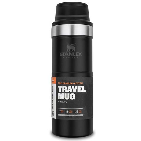 Термокружка Stanley The Trigger-Action Travel Mug (10-06439-031) 0.47л черная