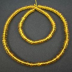 Бусины из натурального янтаря рондели 4,5х2,5 мм
