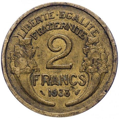2 франка. Франция. 1931-1941 гг. F-VF