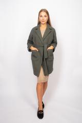 Зеленое трикотажное пальто купить