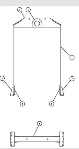 Рама для подъема ДГУ в сборе / LIFTING FRAME S/POINT. S1 (WHITE) ASSY АРТ: 10000-45214