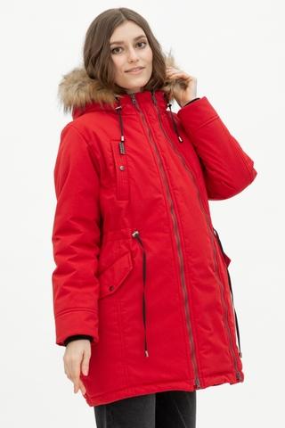 Куртка-парка 2 в 1 для беременных 11902 красный