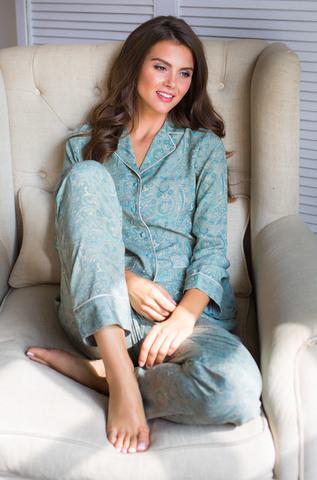 Пижама женская Mia-Mia оливковая