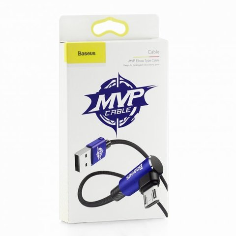 Кабель Baseus MVP Elbow Type Cable USB For Micro 1.5A 2M Blue