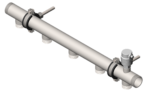 Распределительный коллектор из нержавеющей стали - Гидрусс DMSS-32-25x5