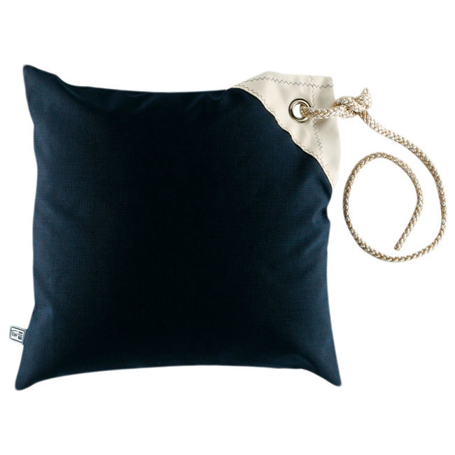 Cushion case set with filling / waterproof / navy blue