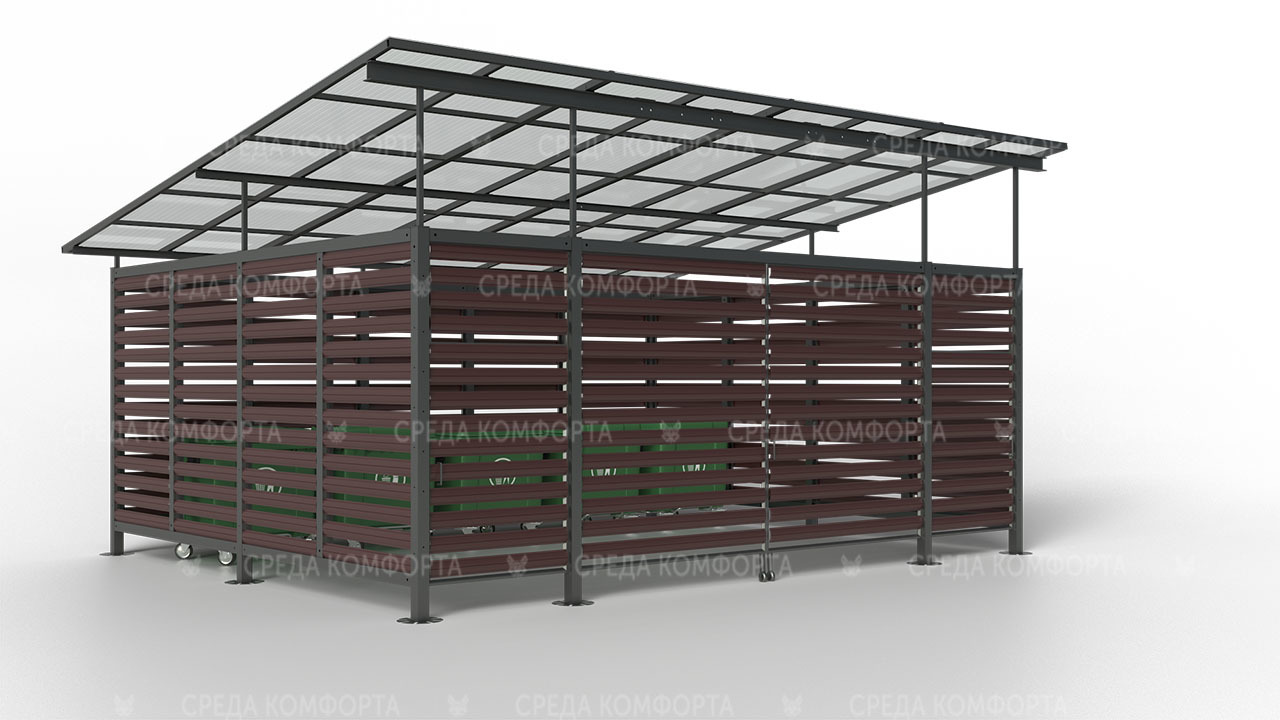Навес для контейнерных площадок NVS0006
