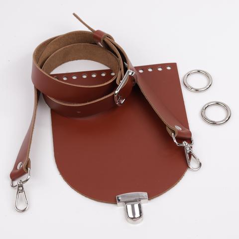 """Комплект для сумочки Орео """"Коньяк"""" N1 с замком N12"""