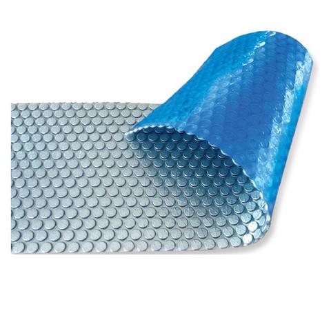 Солярное покрытие Aquaviva Platinum Bubbles  серебро/голубой (7.5х30 м, 500 мкм) / 27801