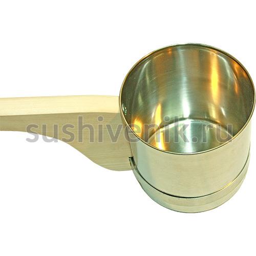 Металлический ковш для бани и сауны