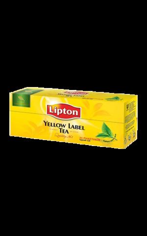 Чай черный Lipton Yellow label в пакетиках, 25 шт
