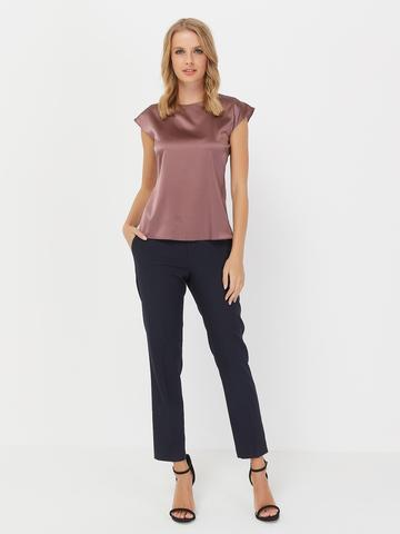 Шелковая блузка с коротким рукавом от SILKME