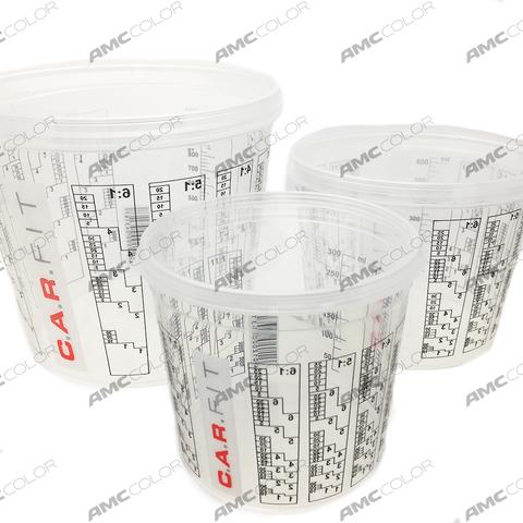 CF Емкость пластиковая для смешивания красок 0,75 л+крышка