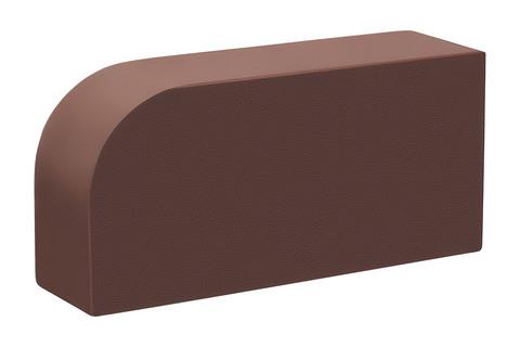 Полнотелый кирпич радиальный Темный шоколад 250×120×65 мм