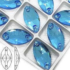 Стразы пришивные оптом купить Neon Blue AB, Navette
