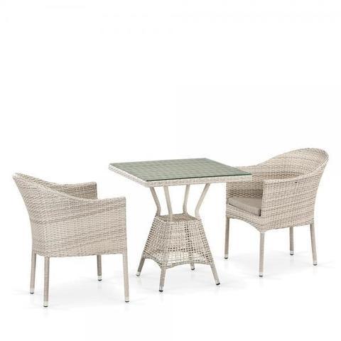 Комплект плетеной мебели из искусственного ротанга T706/Y350-W85 2Pcs Latte