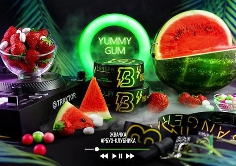 Табак Banger Yummy Gum (Жвачка, Арбуз, Клубника) 100г