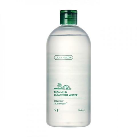 VT Cosmetics Cica Mild Cleansing Water очищающая вода с центеллой азиатской и гиалуроновой кислотой