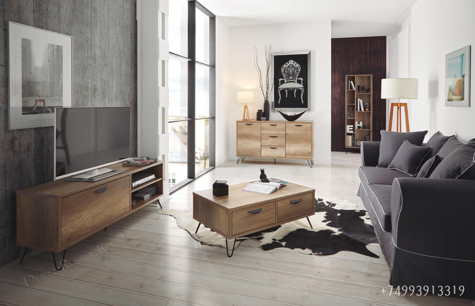 Коллекция KANSAS: тв тумба, буфет и журнальный стол
