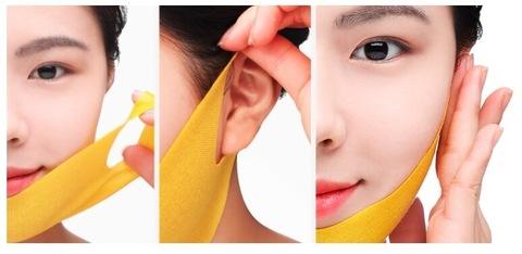 Маска для подтяжки контура лица с маточным молочком JMSolution Honey Luminous Royal Propolis Lift-up V Mask