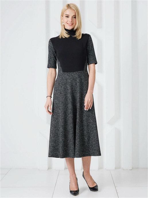 Платье plt-51697f/черный