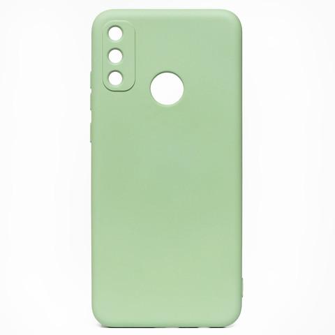 Чехол для Huawei Honor 9A Софт тач мягкий эффект   микрофибра светло-зеленый