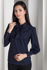 Маркіза. Красива блуза з бантом. Синій