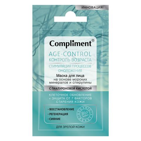 Compliment Age-control маска для лица на основе морских минералов и спирулины