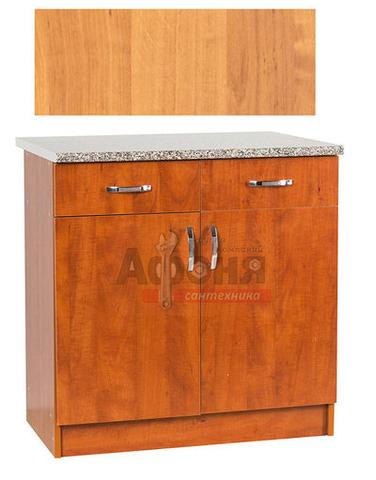 Рабочий стол  80 цвет ольха (2 ящика),стол. ГРАНИТ (ЛДСП)