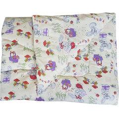 Папитто. Одеяло детское стеганое полушерстяное, 110х140 см бежевый вид 1