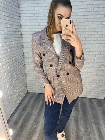 Пиджак в розовую клетку купить