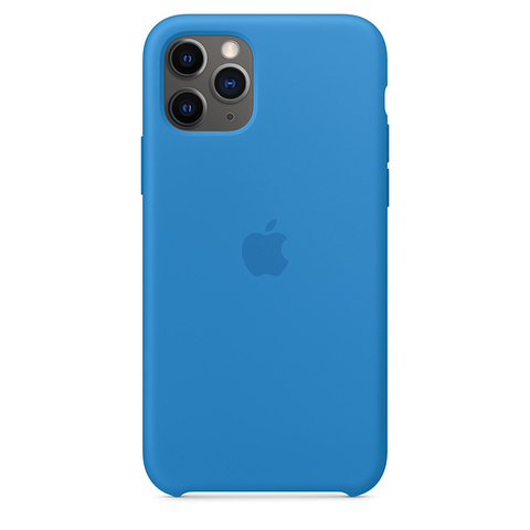 Чехол IP11 PRO MAX Silicone Case Surf Blue