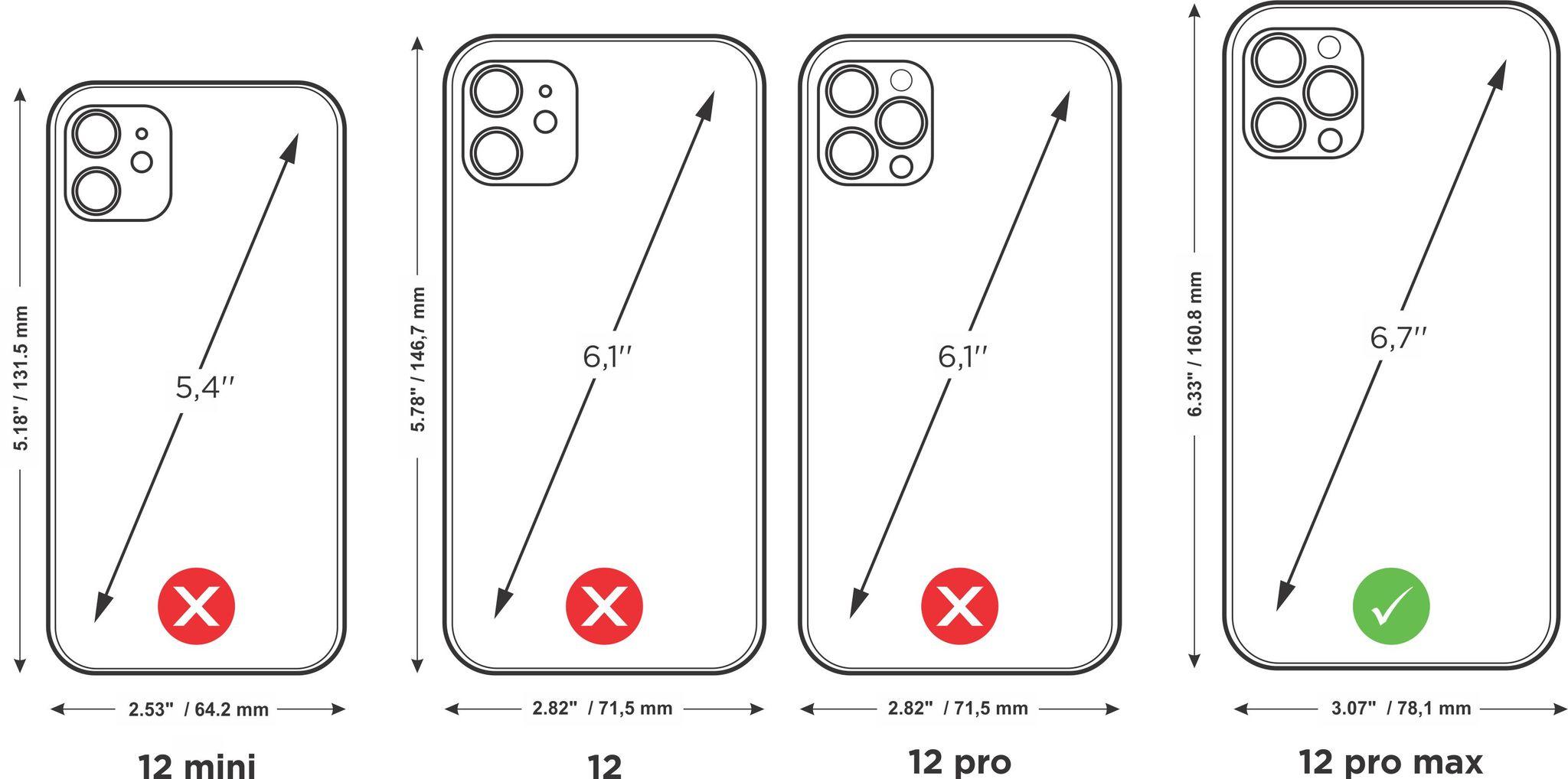 Case for iPhone 12 Pro Max - fushia