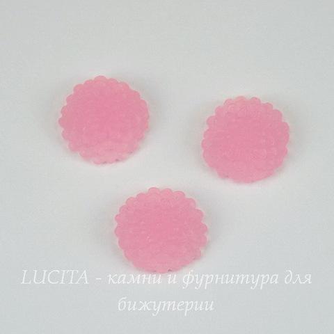 """Кабошон акриловый """"Хризантема"""", цвет - розовый, 10 мм"""