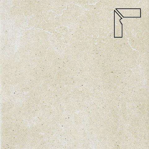 Interbau - Alpen, Bernardino/Кристальный песок, цвет 043 - Клинкерный плинтус ступени левый, 3 части