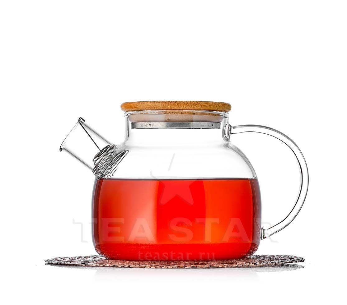 Каталог товаров магазина TeaStar Чайник заварочный Бамбук, стеклянный с бамбуковой крышкой bambuk_900b.jpg