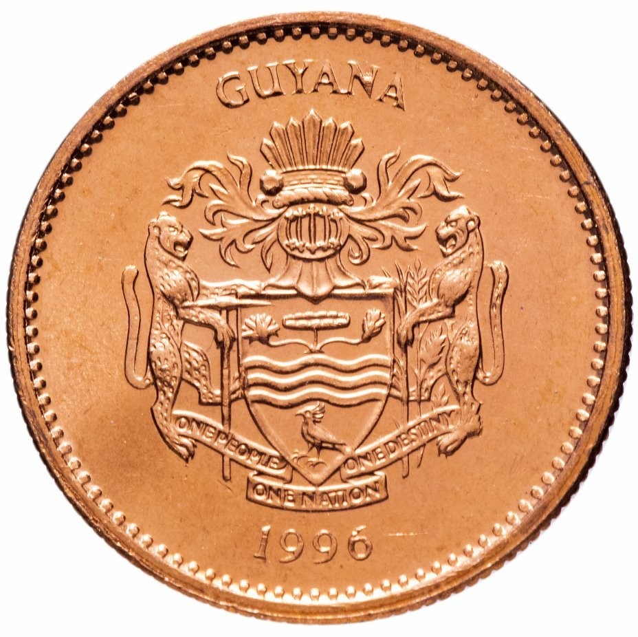 1 доллар. Гайана. 1996 год. UNC
