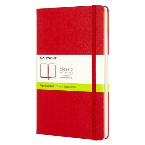 Блокнот Moleskine CLASSIC QP062R Large 130х210мм 240стр. нелинованный твердая обложка красный