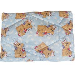 Папитто. Одеяло детское стеганое полушерстяное, 110х140 см голубой вид 3