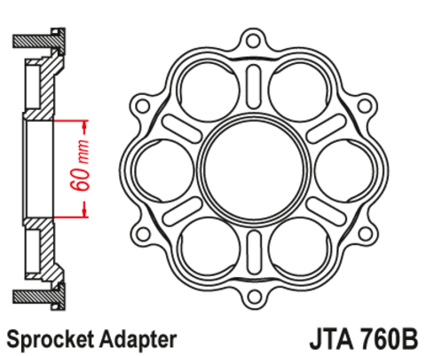 Крепление ведомой звезды алюминиевое JTA760B