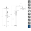 Душевая система с термостатом и тропическим душем для ванны DRAKO 334803RP300 - фото №2
