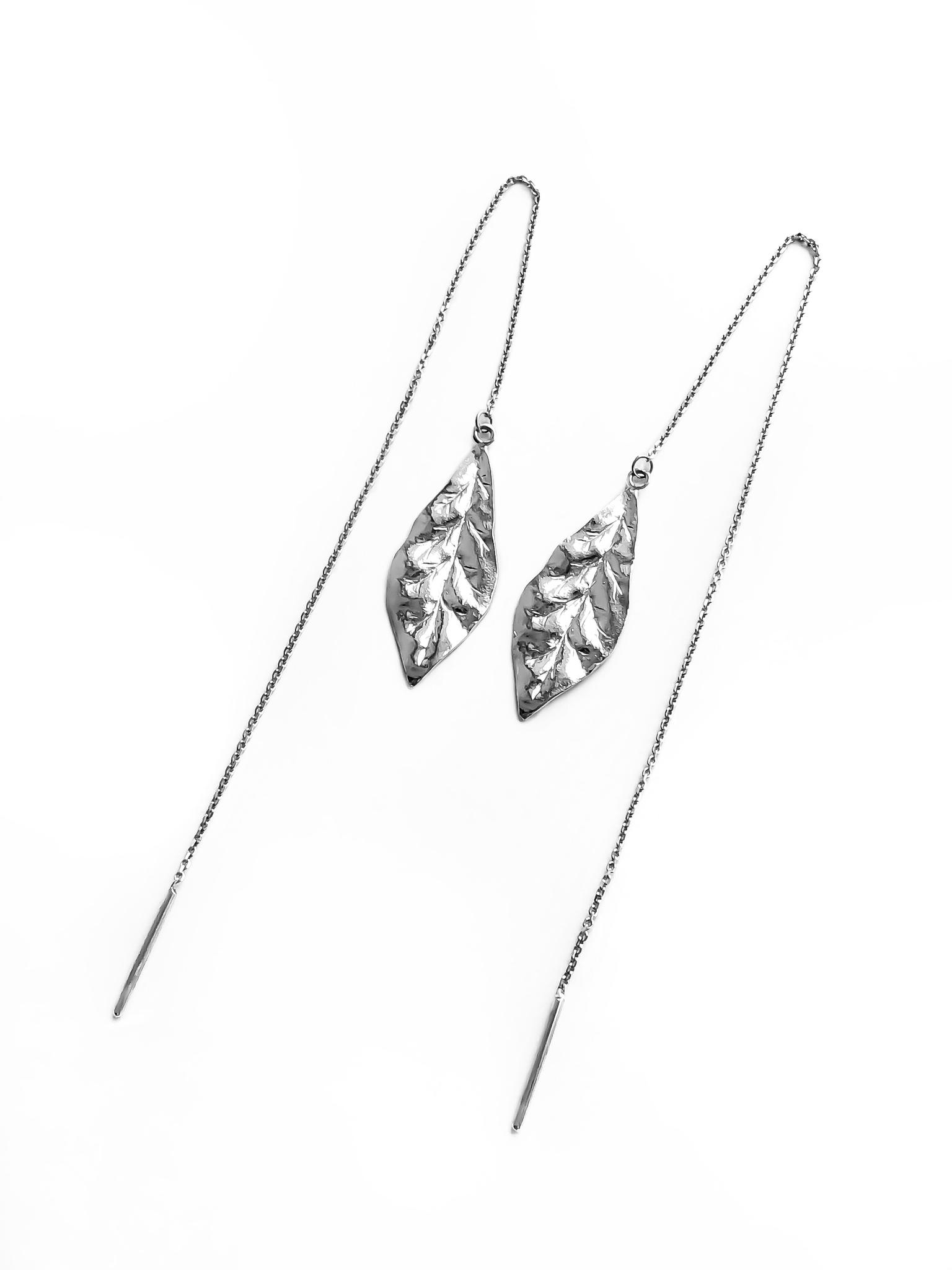 Серебряные серьги-продевки