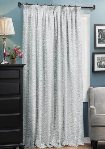 Готовая штора из двухстороннего жаккарда Домино серый
