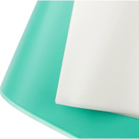 Пленка матовая 20 листов, размер:60х60см, цвет: прозрачный/бирюзовый