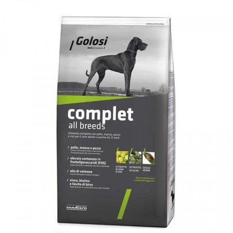 Сухой корм GOLOSI COMPLET ALL BREEDS Полный рацион для взрослых собак всех пород с курицей, говядиной и рыбой, 12 кг.