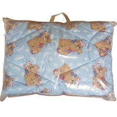 Папитто. Одеяло детское стеганое полушерстяное, 110х140 см голубой вид 4