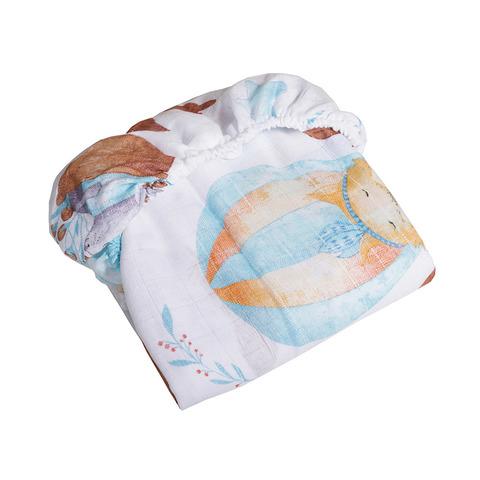Простыня детская на резинке 90х150 см (муслин, х/б 100%)