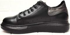 Стильные женские кроссовки с высокой подошвой EVA collection 0721 All Black.