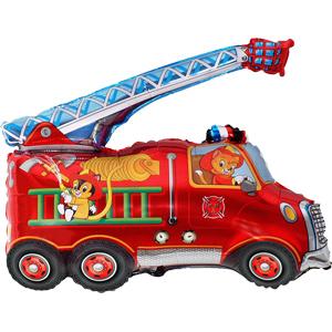Фольгированный шар Пожарная машина 71см Х 80см