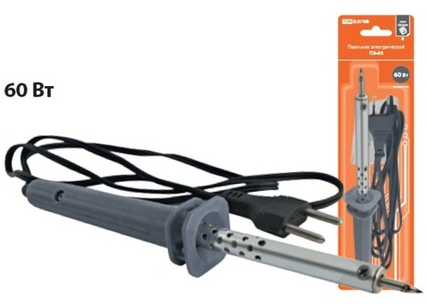 Паяльник электрический ПЭ-60  с жалом типа